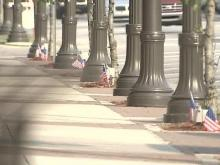 Benson Stakes Out National Colors for Soldier's Funeral