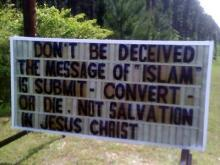 Church's Sign Against Islam Sparks Controversy
