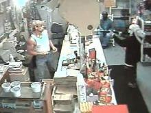 Robbery Begins at Warren Store