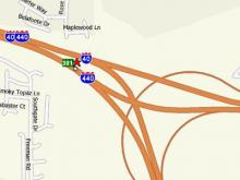 Interstate 40 was closed westbound as police investigated an incident following a chase.