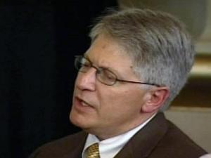 An emotional District Attorney Mike Nifong announces his intent to resign as Durham's top prosecutor during his State Bar ethics trial testimony on Friday, June 15, 2007.