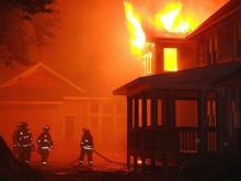 Authorities are responding to a house fire on Nottingham Road in Raleigh that broke out early Wednesday morning.