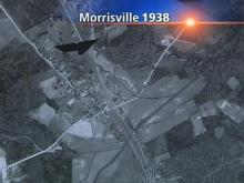An aerial photograph shows what a mostly rural Morrisville looked like 69 years ago.