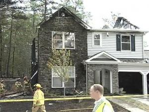 Investigators are trying to figure out what caused a fire that destroyed two homes in Rolesville.