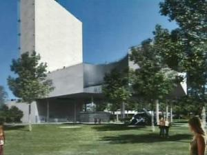 Artist's rendering of proposed Fayetteville Museum of Art at Festival Park.