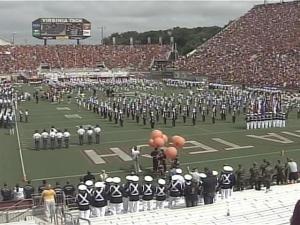 More than 60,000 people watched the Virginia Tech Hokies take on the East Carolina Pirates.