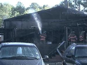 Investigators are trying to determine the cause of a fire at a Durham car dealership.