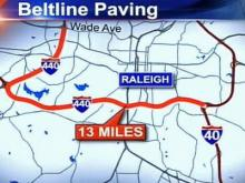 This map shows where a major repaving project will take place on Interstate 440. The $8.5 million project is set to begin later in September and last until August 31, 2008.