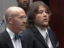 """Singer Matthew Shafer, known as """"Uncle Kracker,"""" appears with Raleigh defense attorney James Crouch in a Wake County courtroom, Friday, Sept. 28, 2007, to enter a plea in connection with a sex offense case."""