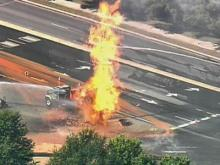 Sky 5 Coverage of Cary Gas Line Fire