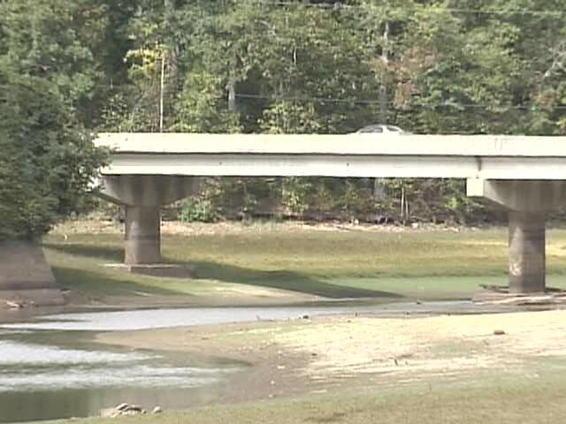 Lake Michie, a Durham water source, is down nearly 14 feet.
