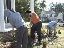 Knightdale Volunteers Whip Yard Into Shape for Soldier's Family