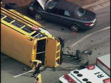 Sky5 Images from Bus Accident