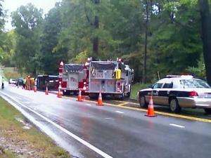 Highway 50 Accident in Wake County. Photo by WRAL Photographer Richard Adkins.