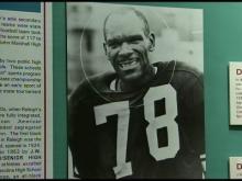 John Baker as a pro football player.