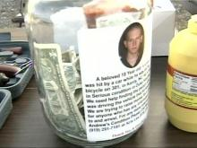 Family and friends held a benefit Saturday to help with Andrew Lee's medical costs. (Photo by WRAL's Richard Adkins)