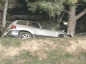 Authorities say a sport utility vehicle crashed Monday on a curve in Wake County that has been the site of several accidents in the last couple of years.