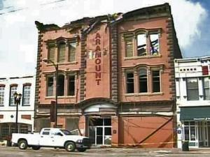 A fire on Feb. 19, 2005, burned out Goldsboro's historic Paramount Theatre, built in 1882. The loss hurt the downtown economy.