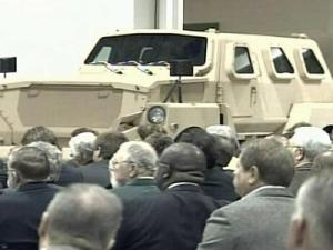 The Cheetah is one of the blast- and ballistic-protective vehicles to be built in Roxboro.