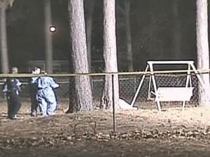 Investigators search the back yard of a home at 1959 Aspen Court in Fayetteville. The body of Juan Pablo Hernandez, 36, of Fayetteville, was found there on Dec. 13, 2007.