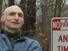 'No Parking' sign near Umstead Park irks some users