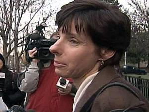 Allison Quets at the federal courthouse Tuesday, Dec. 18, 2007.