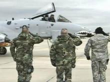 Warthogs Make Final Takeoff From Pope Air Base