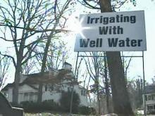 Irrigating with Well Water sign
