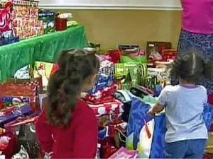 Volunteers with the Friends of the Durham Rescue Mission donated Christmas presents for 23 children from needy families.