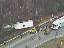 A Greyhound bus and a flatbed tractor-trailer collided on southbound U.S. 1 near Henderson on Jan. 2, 2008.