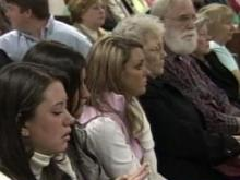 Supporters of Brittany Willis sit in a Wilson County courtroom Jan. 4 to show their support for the slain 17-year-old. The courtroom was filled to capacity with supporters who silently expressed their disappointment in the way her murder case has been handled.