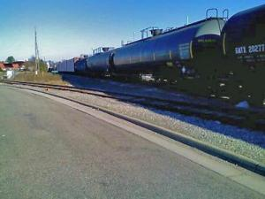 A rail tank car containing ethanol began leaking in Raleigh on Sunday, Jan. 6, 2008.
