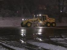 Snow Equipment at Center of Storm Between DOT and Person County