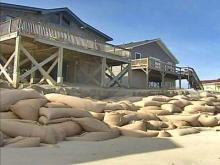Sandbags No Longer to Hold Back Ocean Along N.C. Coas