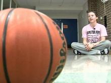 High school basketball player joins Yow's fight against breast cancer