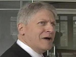 Mike Nifong arrives at his bankruptcy court hearing on Feb. 8, 2008.
