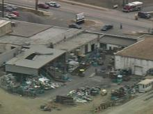 WEB ONLY: Sky 5 Coverage of Explosion at Scrap Metals Plant