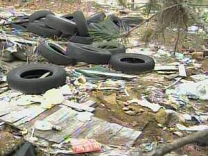 At a site in Robeson County, WRAL found garbage and a heap of old tires.
