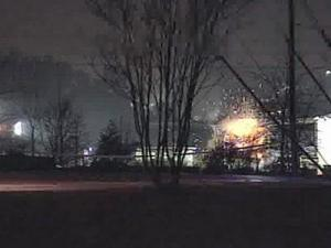 Explosives found at a Raleigh recycling plant were detonated Tuesday night.
