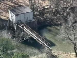 Burlington Mills plant water intake on Neuse River