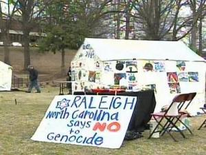 The tents painted at Meredith College will be sent to the National Mall in Washington D.C.
