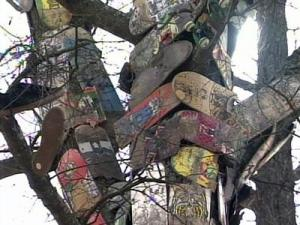 Skateboarders in Fayetteville are appealing a city ordinance to save what has become a shrine to  fellow boarders.
