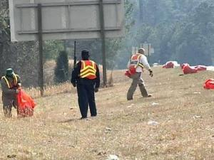 State prison facilities contributed inmate labor to litter reduction efforts.