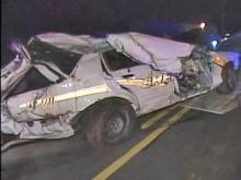 A Person County sheriff's deputy was injured after losing control of his cruiser during a chase Saturday, March 8, 2008.