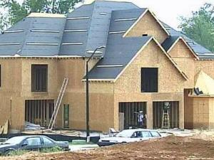 A new home under construction in Raleigh.