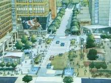 Artist's Rendering of City Plaza in Raleigh