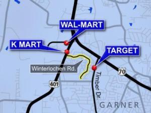 Winterlochen Road has become a popular short-cut for drivers between retail centers in Garner.
