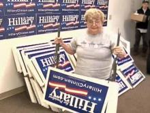 Obama, Clinton Supporters Work Locally for Candidates