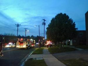 The apartment fire started just after 7 p.m. Wednesday.
