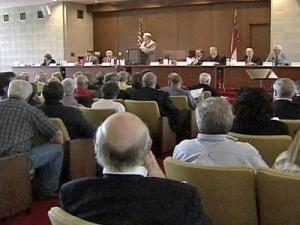 More than 100 people came to a public hearing at the Legislative Building auditorium Wednesday evening.